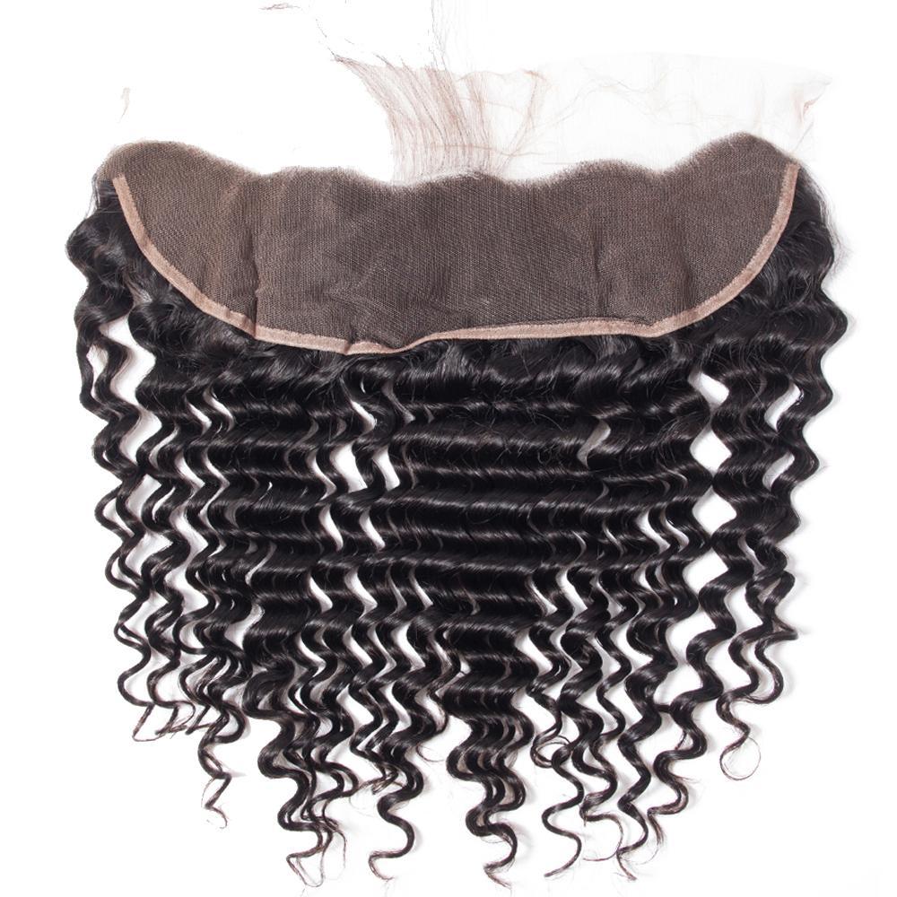 8A الشعر العذراء البرازيلي مستقيم موجة الجسم فضفاض موجة غريب مجعد موجة عميقة مع 13x4 الرباط إغلاق العذراء البرازيلي الإنسان الشعر