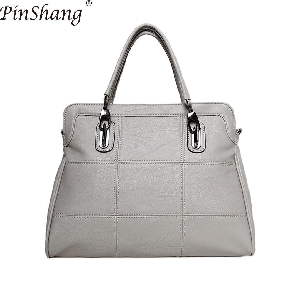 944a1a6600 PinShang Leisure Spiraea Women S Soft Leather Work Tote Fashion Single Shoulder  Bag Large Capacity PU Bags For Women 2018 ZK40 School Bags Messenger Bags  ...