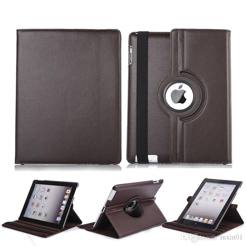 360 Rotating Virar suporte de couro PU iPad capa para 10.2 Pro 11 10,5 9,7 2018 2 3 4 5 6 Mini Samsung Tab P200 T510 T515 T720 T590 T860 T290