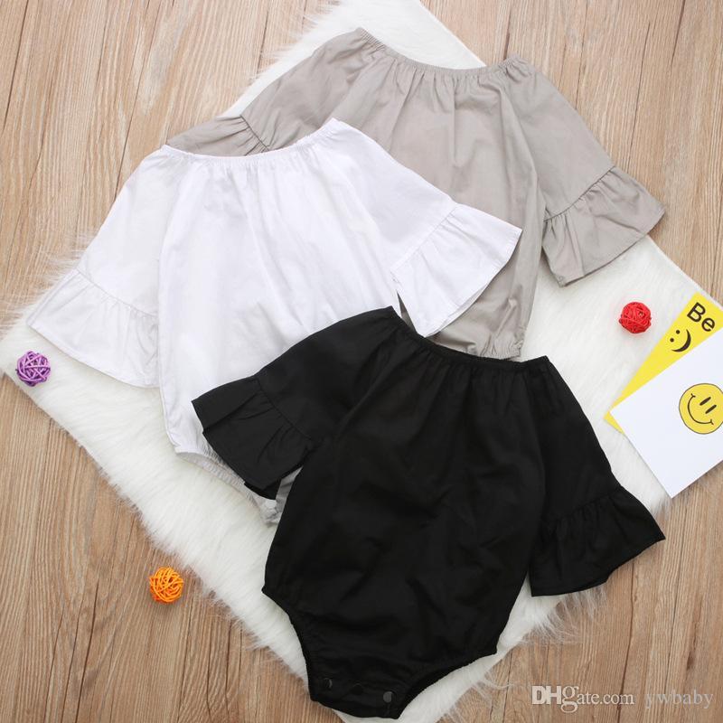 ec4918fc20af 2019 Ins Newborn Baby Girl Cotton Rompers Bebe Jumpsuits Toddler ...