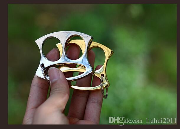 A estrenar Iron Lotus Brass Keychain Knuckles Puño Equipo de lucha Supervivencia de la ventana Rota Al aire libre Suministros de autodefensa Envío gratis