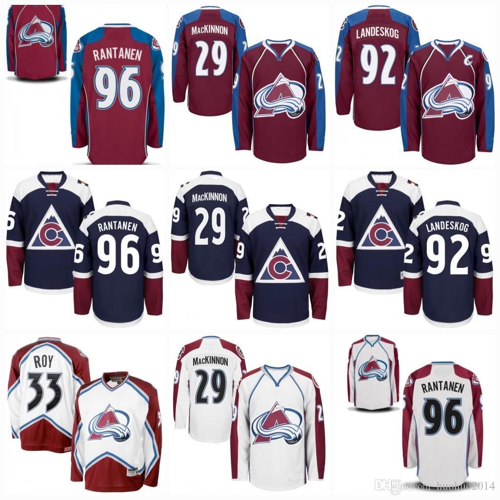 finest selection 32221 f27db Youth Colorado Avalanche 29 nathan mackinnon 33 Patrick Roy Gabriel  Landeskog Mikko Rantanen Matt Duchene Semyon Varlamov Hockey Jerseys