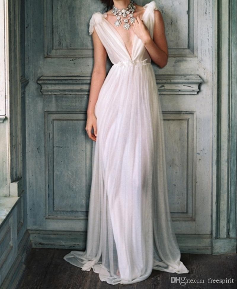 Goddess Sheer Wedding Dress