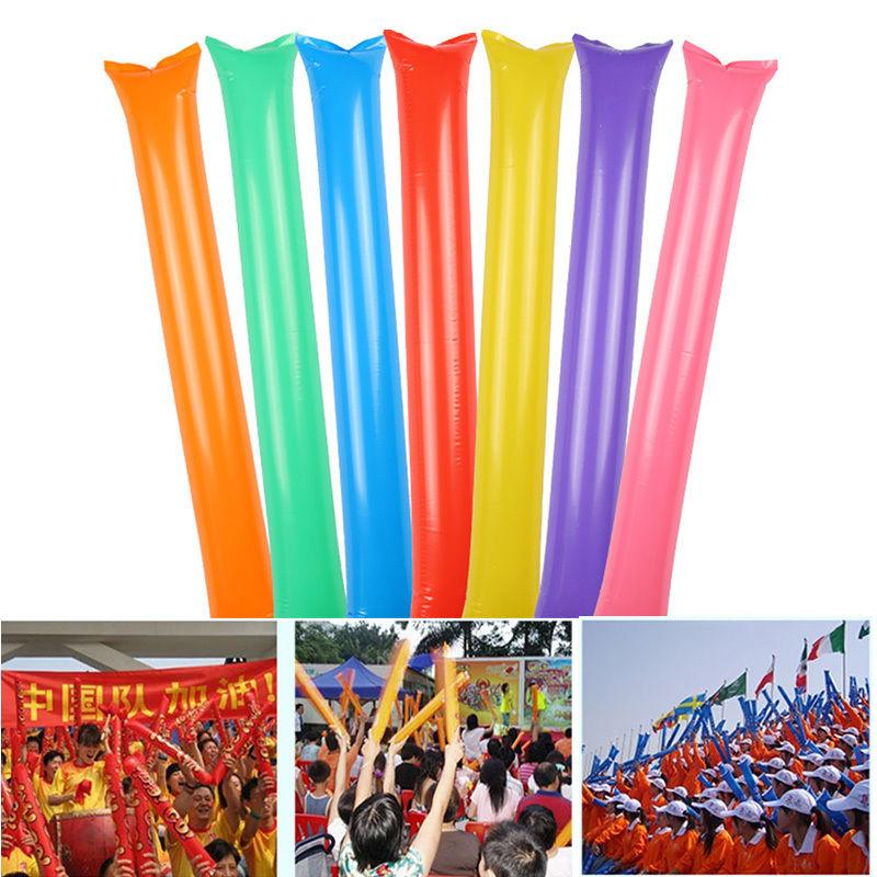 100 Pair Inflatable Stick Bangbang Noisemaker Cheering Sticks Birthday Wedding Party Boom Wand Rave Party Vocal Concert