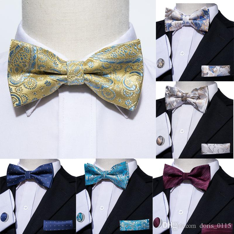 8cb9306ed2e8 2019 Mens Bow Tie Men Silk Bow Ties Designer For Men Classic Jacquard Woven  Wholesale Weeding Business Party From Doris_0115, $3.99 | DHgate.Com