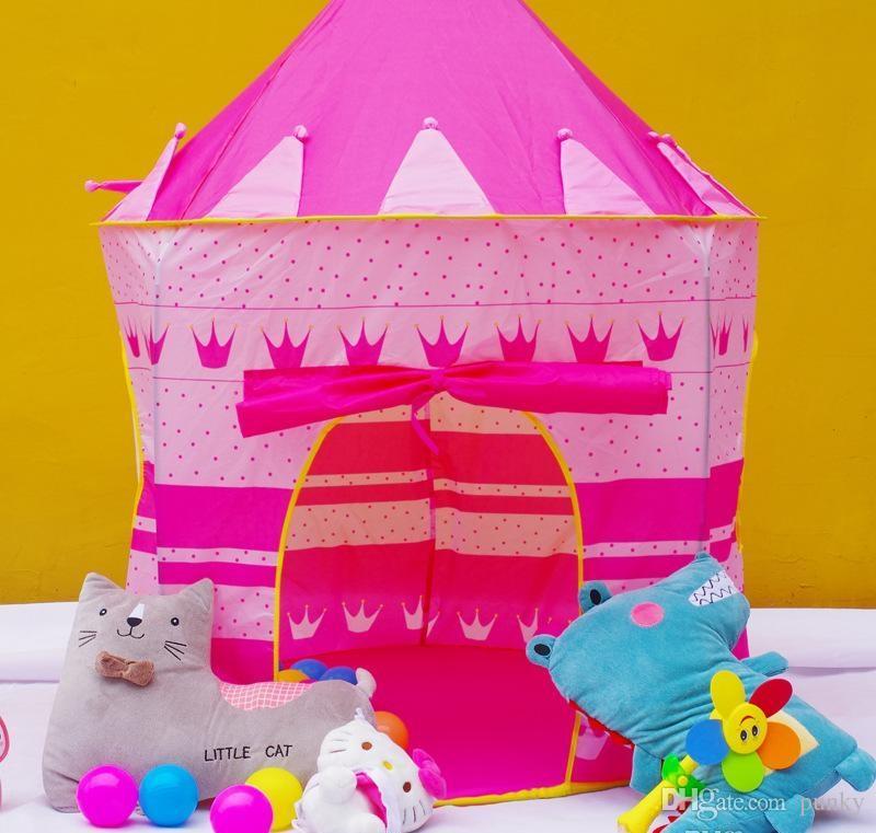 Frete Grátis Crianças Praia Tenda Príncipe e Princesa Castelo Crianças Jogando Brinquedo Ao Ar Livre Indoor Tenda Casa Do Jogo