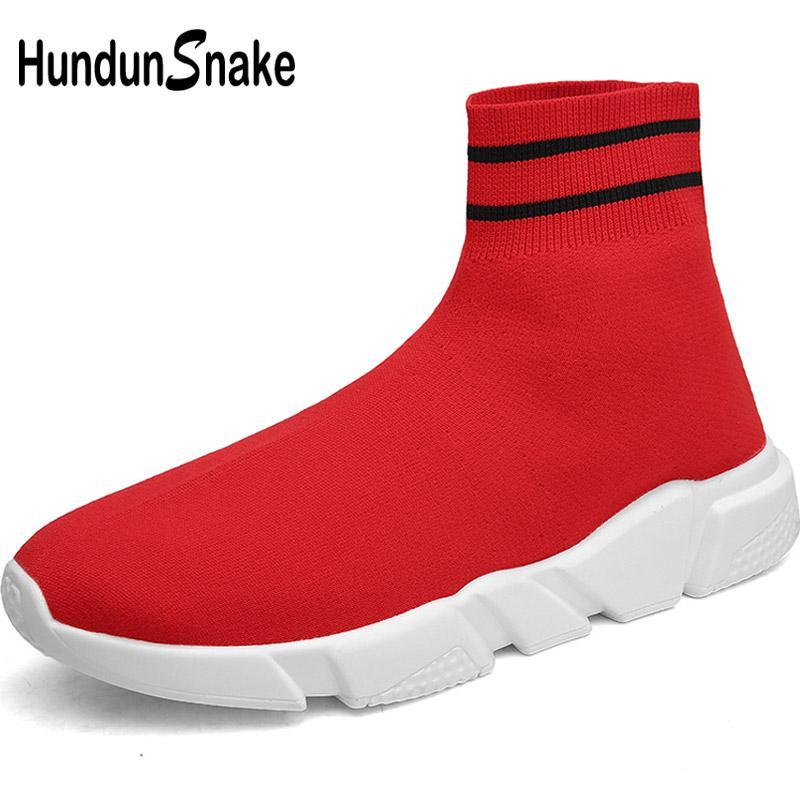 137d6b85 Hundunsnake High Top Running Socks Sneakers Women Red Men Sport Shoes Woman  Knit Women's Running Shoes Sports Gym Jogging T661
