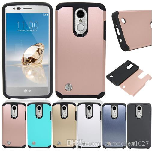 Dual Layer Shockproof Hard Armor Case Cover For LG Aristo 2 MS210  X210MA/LV3 K8 2017 2018/Tribute Dynasty/k4 2017/Zone 4/Rebel 3