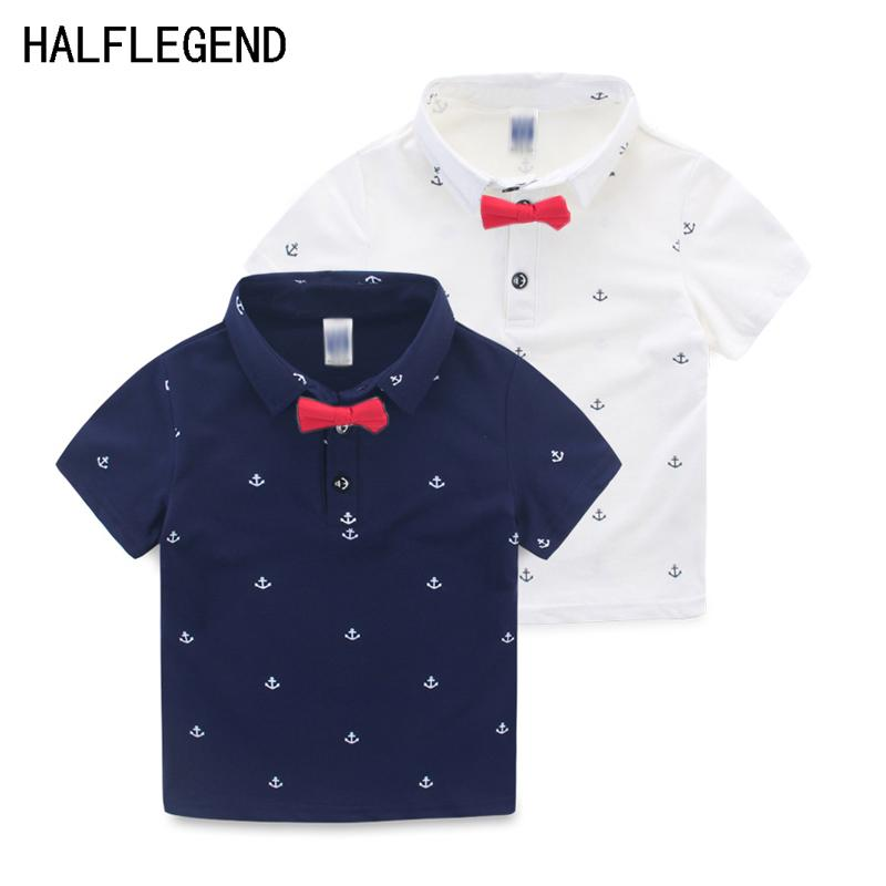 6dac7a921dd0 2019 High Quality Boys Shirt Baby Boys Clothes Short Sleeve Shirts For Boys  Polo Shirt With Bow Tie For Children 2 8y Summer Clothes From Runbaby, ...