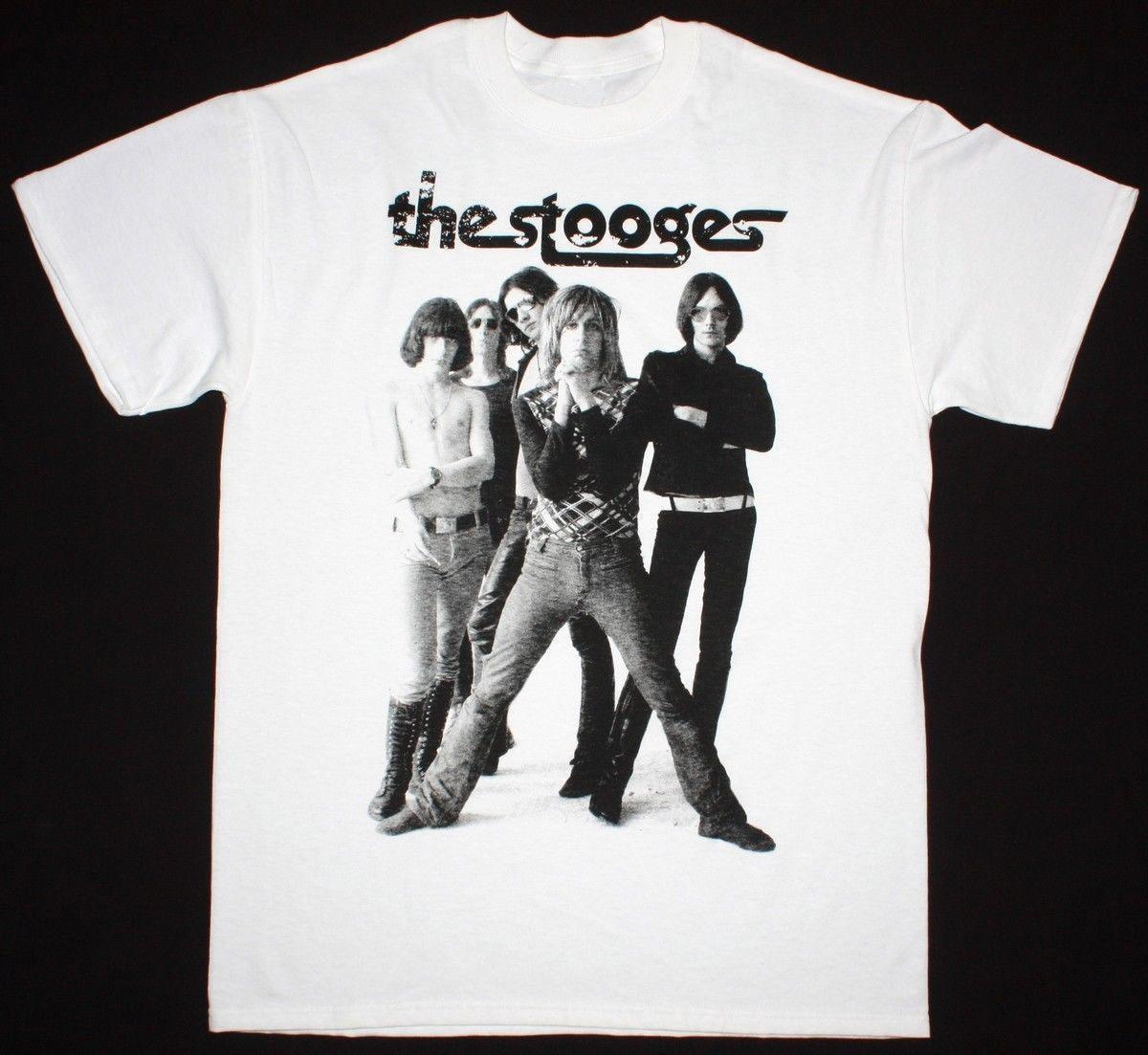 8692552303f7b5 THE STOOGES IGGY POP MENS WHITE T SHIRT PROTO PUNK ROCK BAND TOM PETTY  MINUTEMAN Hilarious Shirts Funky T Shirts Online From Customizedshirts46