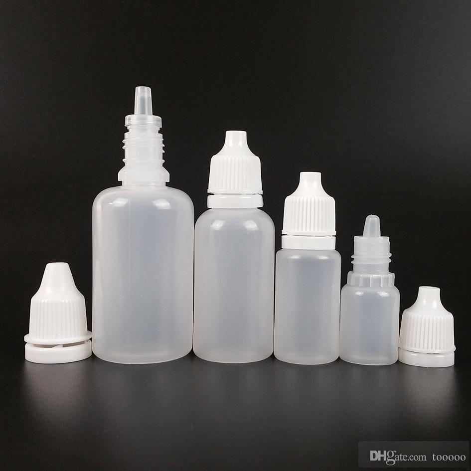 10 ml botellas de plástico gotero envío gratis 1000 unids / lote NUEVO LDPE Dispensar la mayoría de los líquidos gotas para ojos