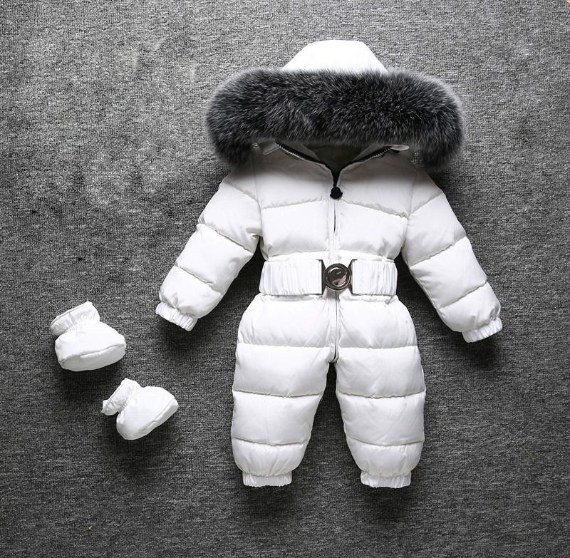 0537f9946faa 2018 Winter New Baby Boy Child Girl Rompers Winter Snowsuits Big Fur High  Quality Keep Warm Design For Kids Over Jumpsuits Girls Spring Coat Girls  Outerwear ...
