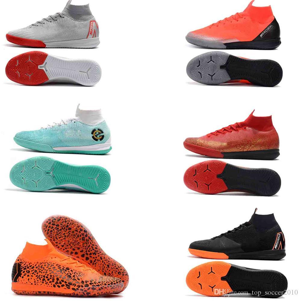 c48f4f05436 2019 Original Indoor Mercurial Superfly SuperflyX KJ VI 360 Elite Ronaldo  CR7 IC TF Mens Women Boys Soccer Shoes Cristiano Football Boots From ...