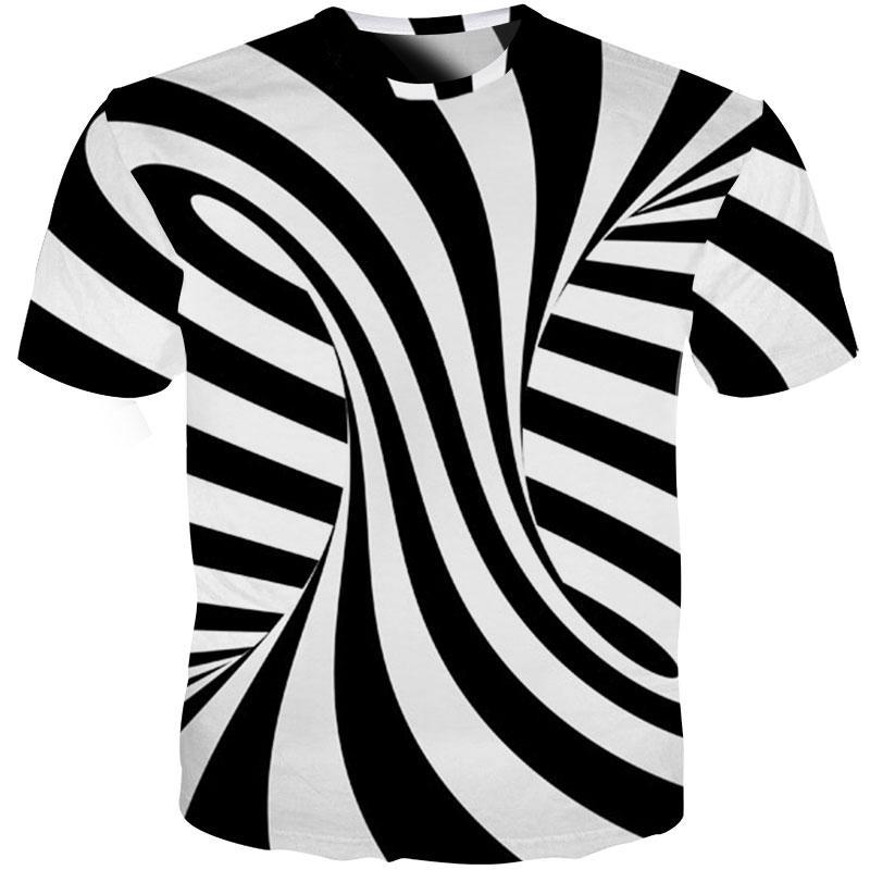 0f466d54a Spatial Whirlpool Zebra Striped Newest Fashion Men/Women Tops 3d Printing T  Shirt Unisxe Funny Short Sleeved Tees 3D T Shirt N77 Funny Slogan T Shirts  Cool ...