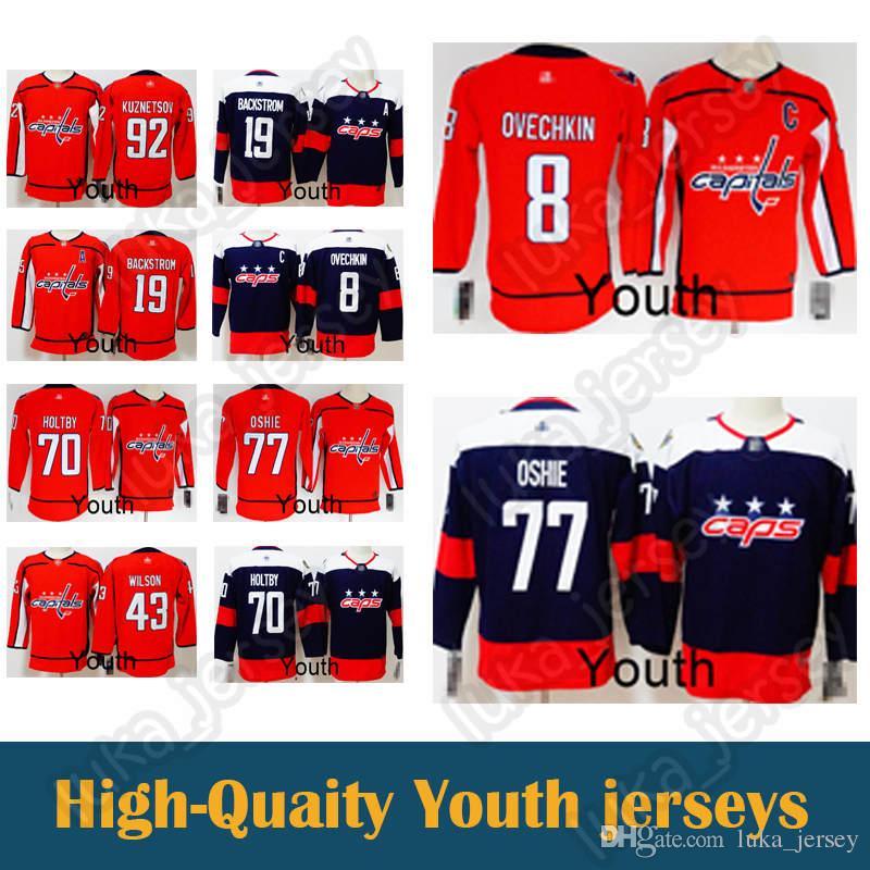best service 916b5 ea3ba kid Hockey Jerseys Washington Capitals 77 T.J. Oshie 19 Nicklas 43 Tom 8  Alex Ovechkin jersey