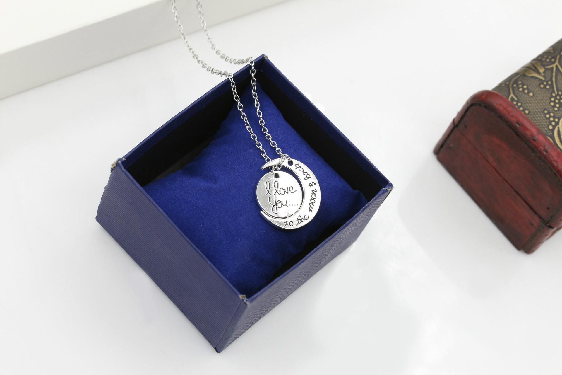 I Love You To The Moon and Back Necklace New Hot Pendant Necklaces Gold and Silver