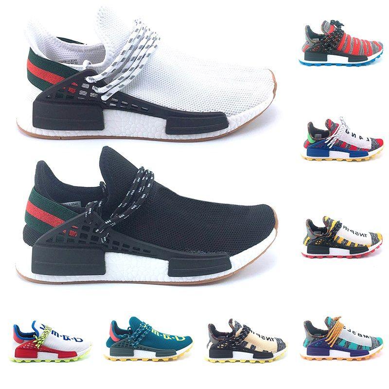 39c4078d075 Compre Adidas NMD Human Race Boost Human Race Trail Solar Afro Pack Hombres  Mujeres Zapatillas De Running Nerd Pharrell Williams HU SOLARHU Negro White  ...