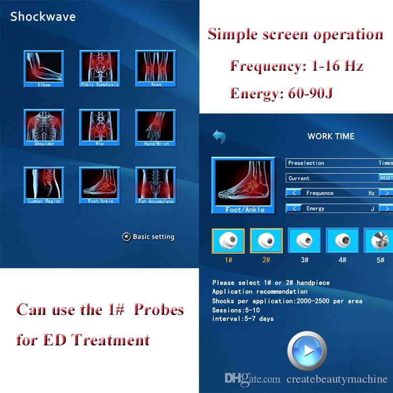 Onda de choque terapia de choque extracorpórea terapia de ondas portátil shockwave ed máquina para artralgia dor no cotovelo cuidados de saúde cotovelo