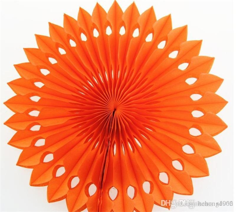 20cm Honeycomb Paper Flower Fan Birthday Party Ornamental