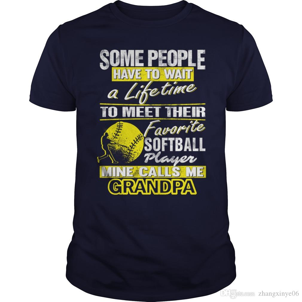 My Favorite Softball Player Calls Me Grandpa T Shirt Shirts Design
