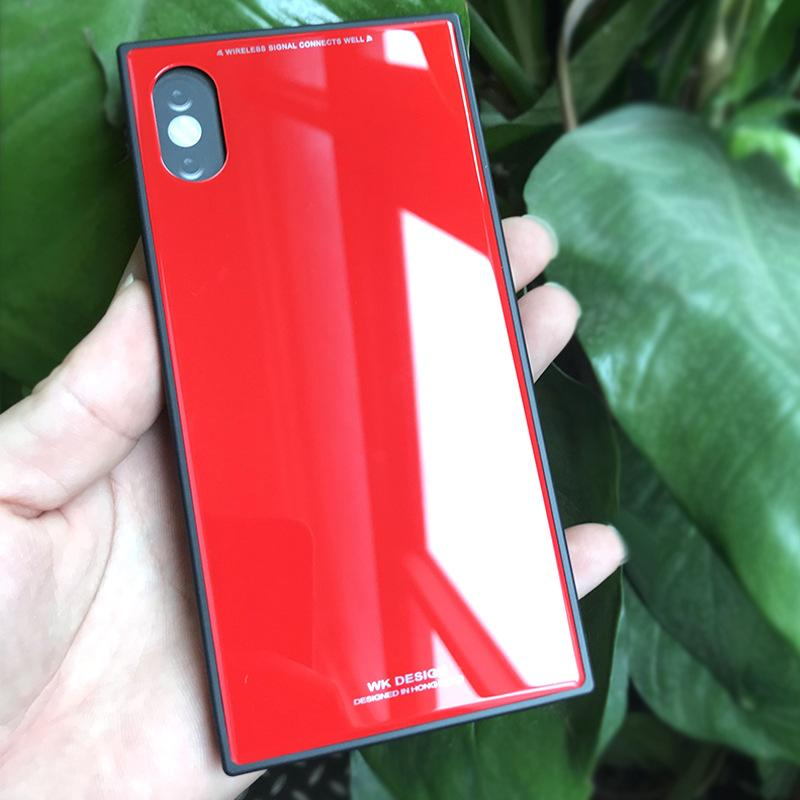 buy online 2b3cf 31256 For Iphone X Cover Phone Shell Square Phone Case Back Cover Color Mirror  Case With Retail Package