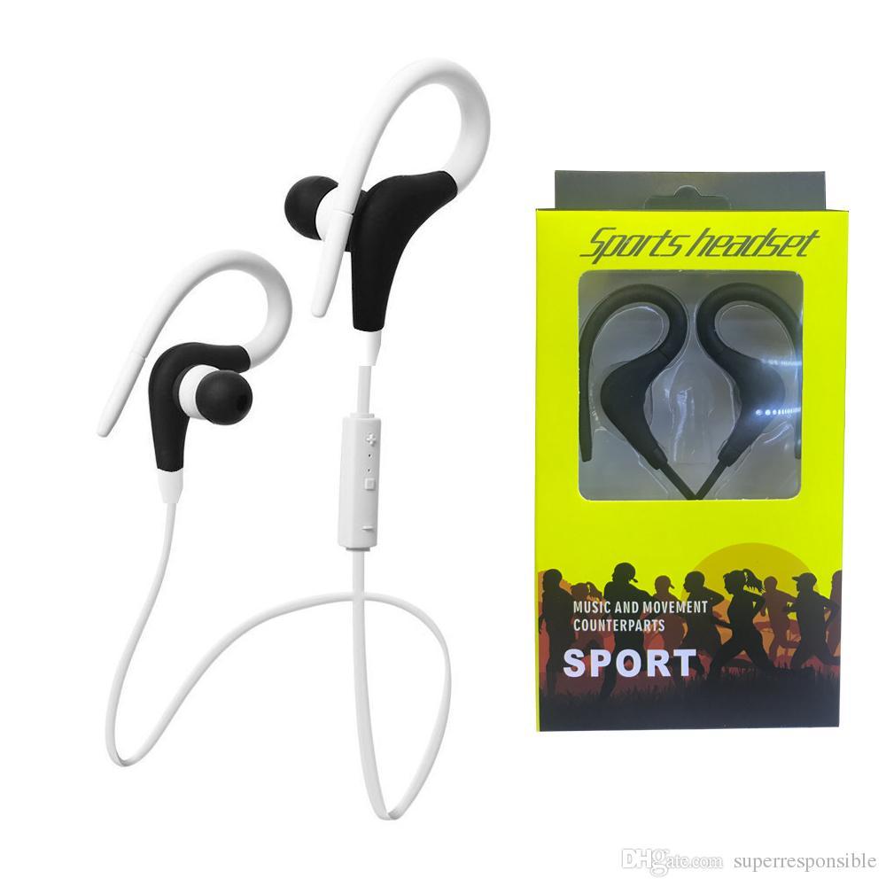 eefa6620bb0 BT1 Wireless Headset Bluetooth Sport Earhook Earbuds Stereo Over-Ear ...