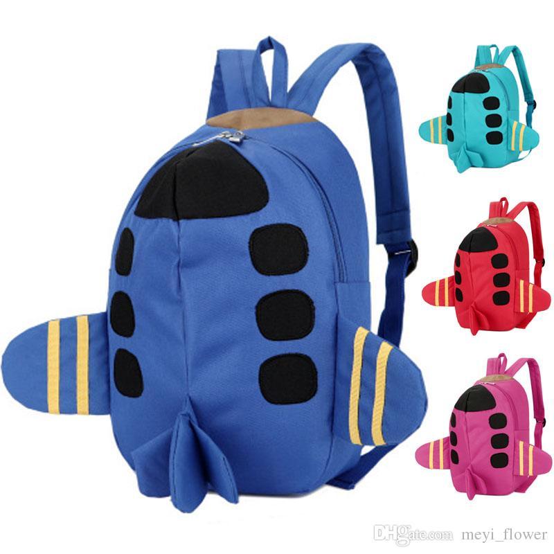 acheter populaire 6a3f7 92901 3D Sacs pour filles garçon avion sac à dos enfants mochila infantis enfants  sacs d'école belle Satchel école sac à dos Sacs pour bébé