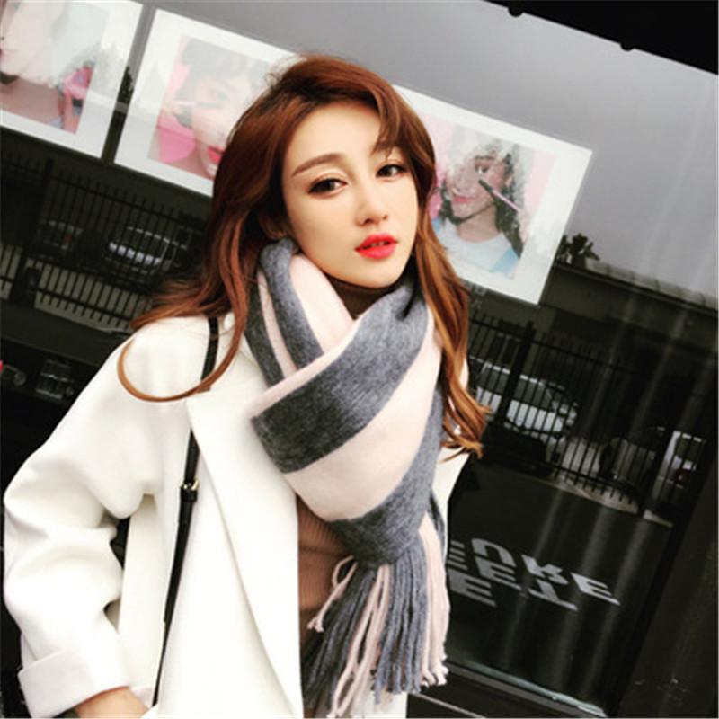 768d0b8cf 2018 Winter Scarf For Women Cashmere Scarves Shawls Soft Scarf For Women  Wool Winter Warm Shawls Female Poncho Womens Grey Bandana Rockabilly  Bandana From ...