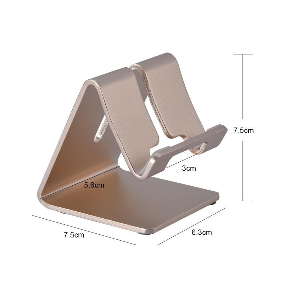 VBESTLIFE Mobile Phone and Tablet Stand Holder Universal Aluminum Alloy Desk Phone Stand Holder GPS Bracket Mini Holder
