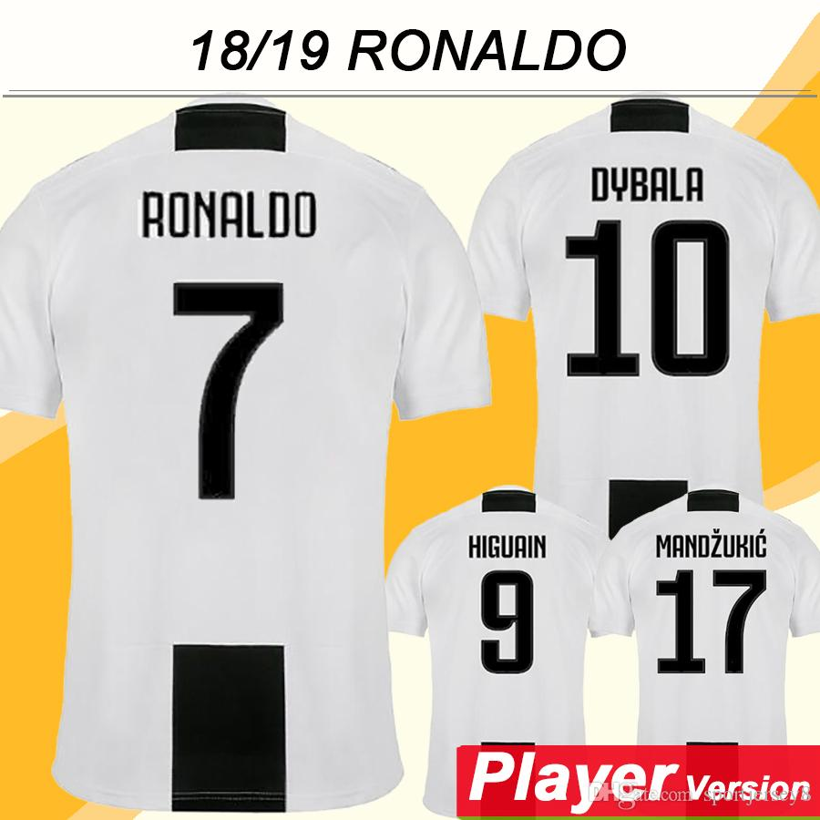 ab39c779b ... discount code for 2018 2018 19 juventus ronaldo champions league player  version soccer jersey higuain dybala