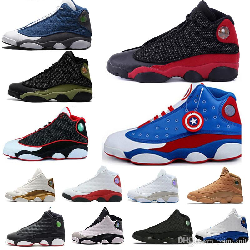 2f6c5cef65ee07 Cheap New Basketball Shoes 13s 13 Men Women Bred Playoff Flints Chicago Red  White Flights Olive Ivory Black Cat Grey Sports Sneakers 36 47 Jordans Shoes  ...
