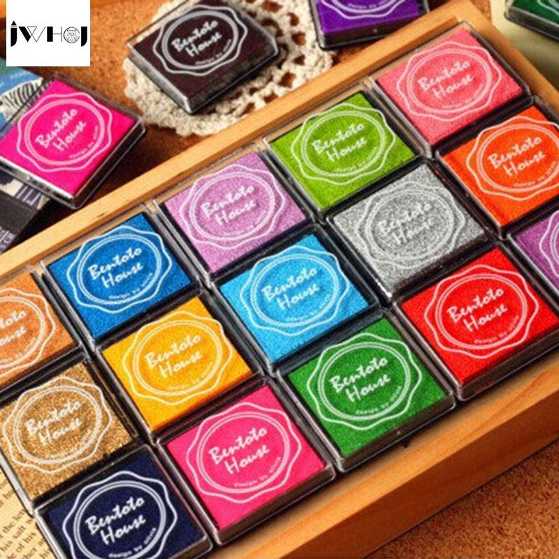 20pcs/set colorful 4X4cm square stamp inkpad set Kids toy DIY Handmade Scrapbook Photo Album student Stamp Arts,Craft gift