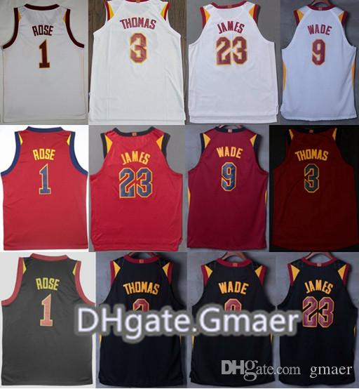 06b5e8a0d Men Basketball 23 LeBron James Jerseys 9 Dwyane Wade 1 Derrick Rose ...