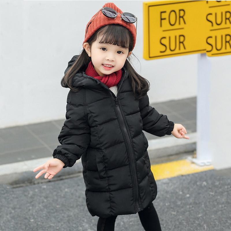 3e99121616 Acquista Piumino Ragazze Inverno Cappotto Bambino Ragazza Vestiti Bambini  Con Cappuccio Lungo Cappotti Bambini Ragazzi Inverno Abbigliamento Invernale  A ...