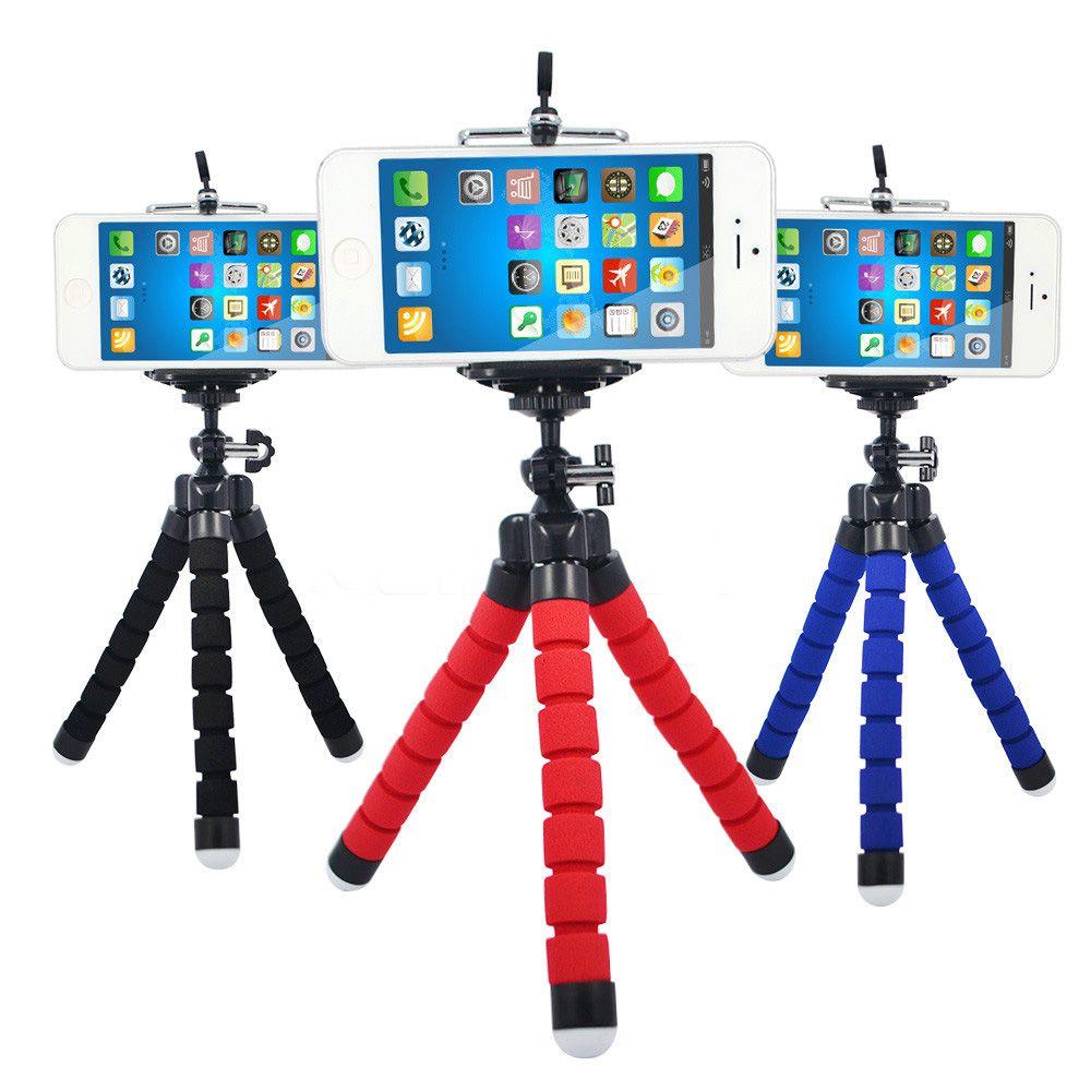 Cell Phone Mount Car Holder Stand Flexible Octopus Tripod Bracket Monopod Adjustable Foam Support For Smart Phone Camera Universal MQ50
