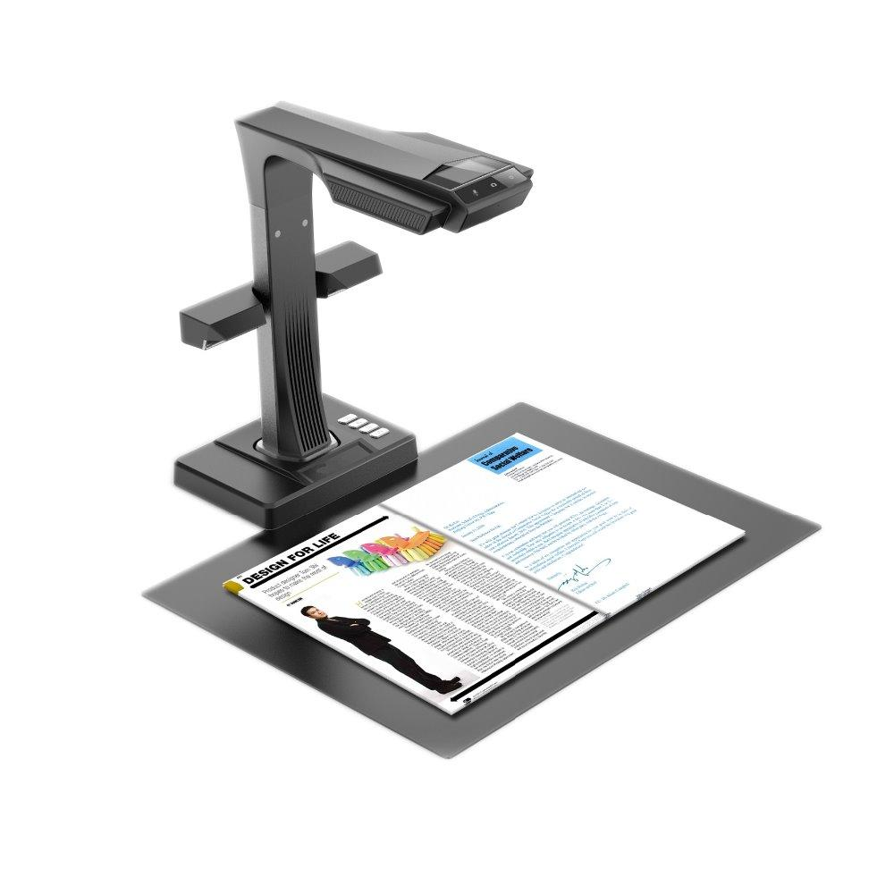 ET16 Plus Book and Document Scanner Smart Portable 16MPS camera scan with Hand & Foot Pedal for Mac and Windows,187 OCR language