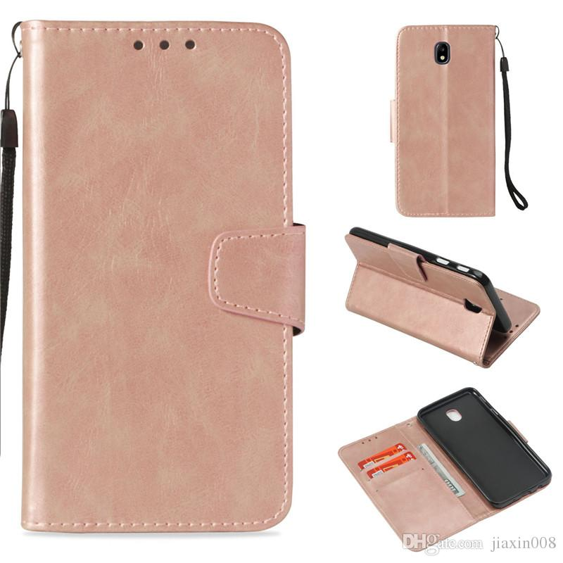 promo code 9c768 14187 Retro Flip Case For Samsung Galaxy J7 Pro/J730 J7 2017 European Edition  Cover Wallet Cases Holster Imitation Skin PU Leather Phone Bags