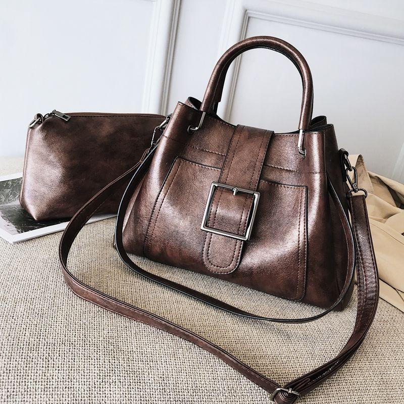 efcbab36a406 2018 Plain Ladies Shoulder Hobos Retro Tote Bags Shopping Female Fashion Shoulder  Bags Daidai Wanggong   11 Backpack Purse Bags For Men From Aili555