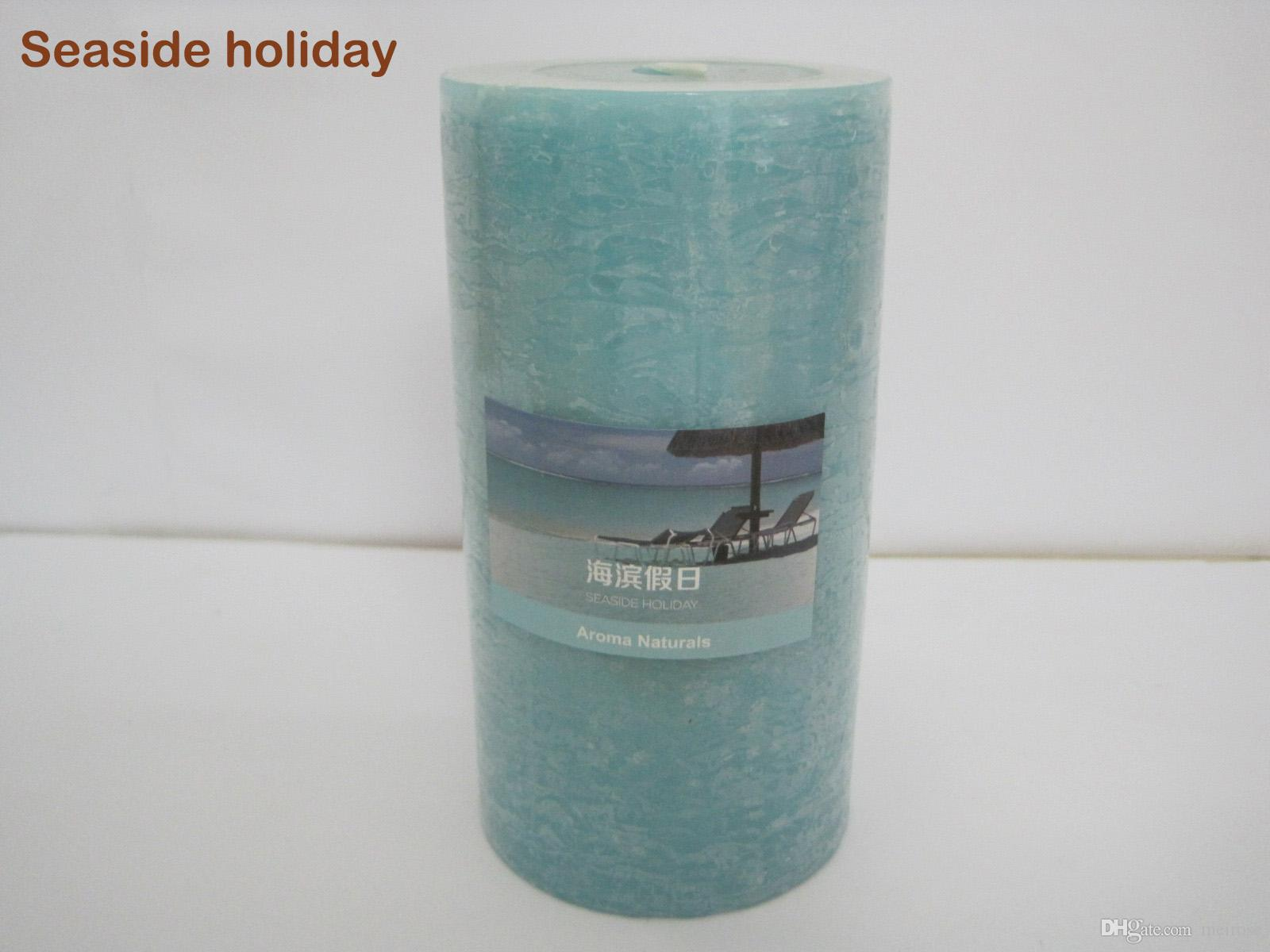 25 Hours Burning time Scented Candles Pillar Candle With A Variety Of Fragrance Aroma Paraffin Wax Aromatherapy Pillar Candles P.C:75-1008