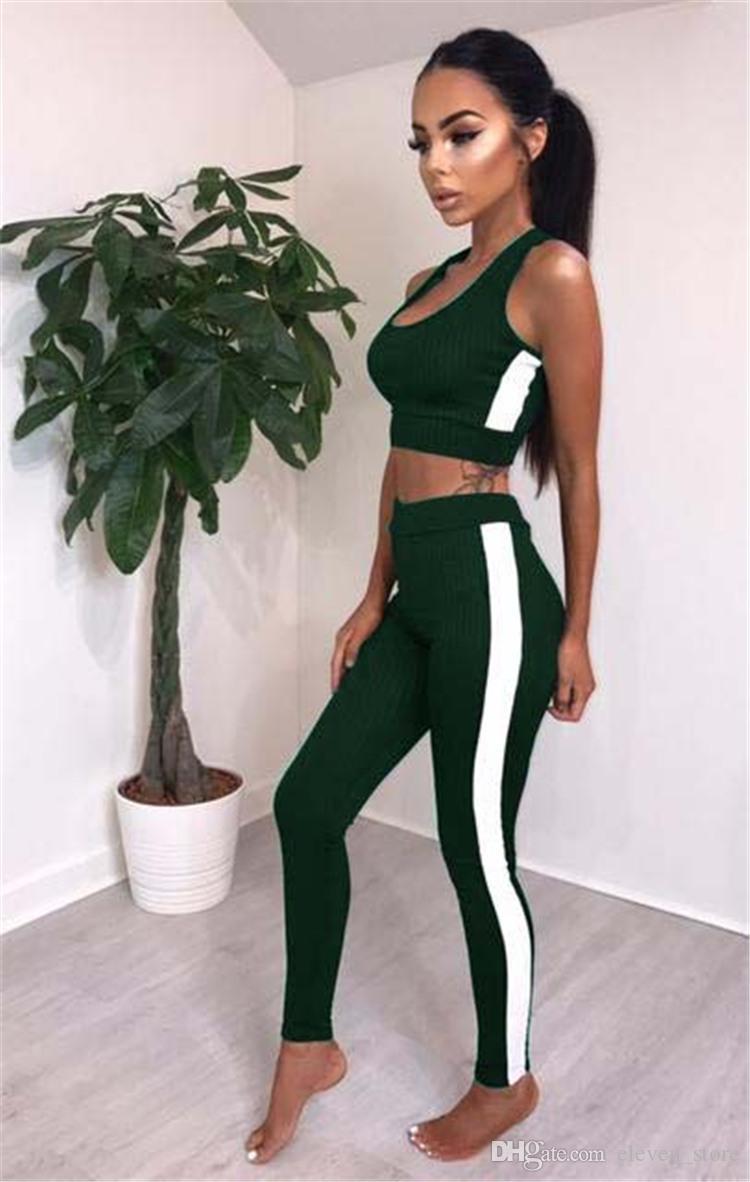 set women suit tights crop top legging female sweatshirt pants tracksuit sport suit sportswear DYDCT-17905