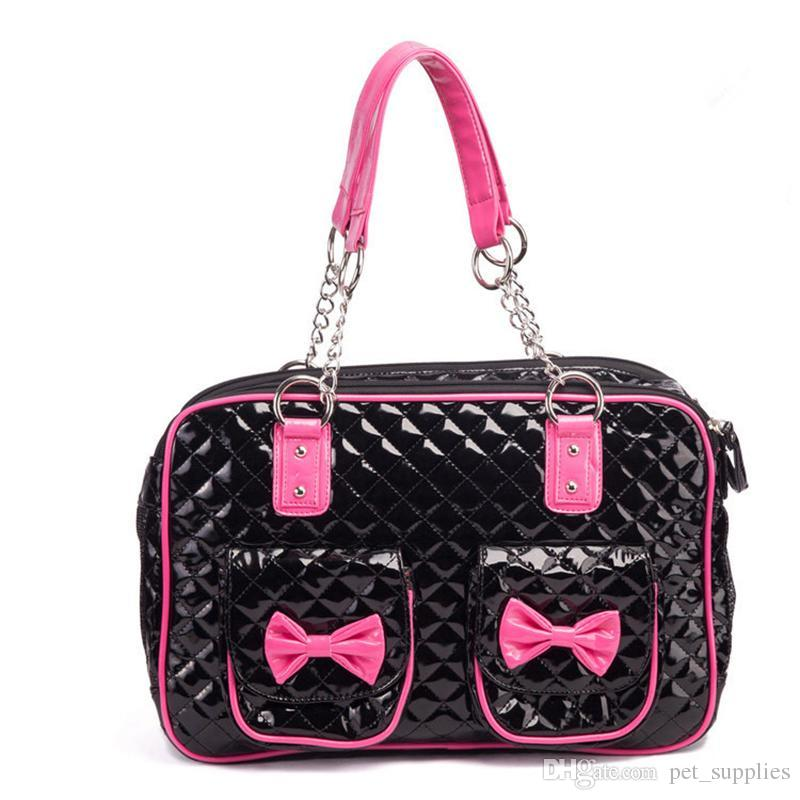 2019 Luxury Brand Super Cute Black Pink Dogs Carrier Bags PU Leather  Quilted Dog Bag With Chain Dog Carrier Shoulder Bag Pet Cat Handbag From  Pet supplies e9a94f9b6d