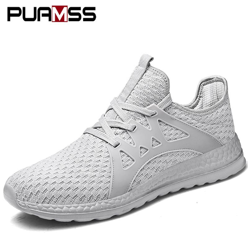 2018 Men Running Breathable Outdoor Sports Male Sneakers Jogging Walking Athletics Shoes Man Large Size 36 47