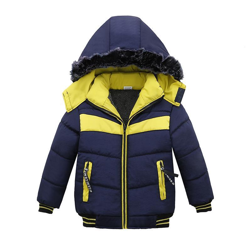 on sale 6a6a5 32236 Babyjacken Winterjacken für Kinder Kleidung Kinder Jungen warme Jacken  Mantel Kinder Sport mit Kapuze Oberbekleidung 3 Farben Y18102607