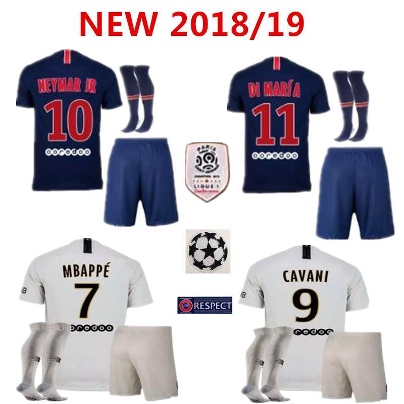3113f0ccca8 18 19 Paris Neymar Jr 10 Soccer Jersey Home Mbappe 29 Maillot De ...