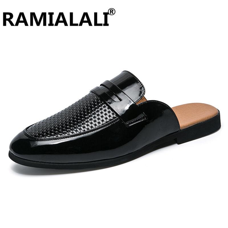 ba2338fbcfcd Ramialali Brand Summer Men Slippers Male Leather Flip Flops For Man Vintage  Casual Beach Sandals Non Slide Zapatos Shoes Rain Boots Mens Shoes From ...
