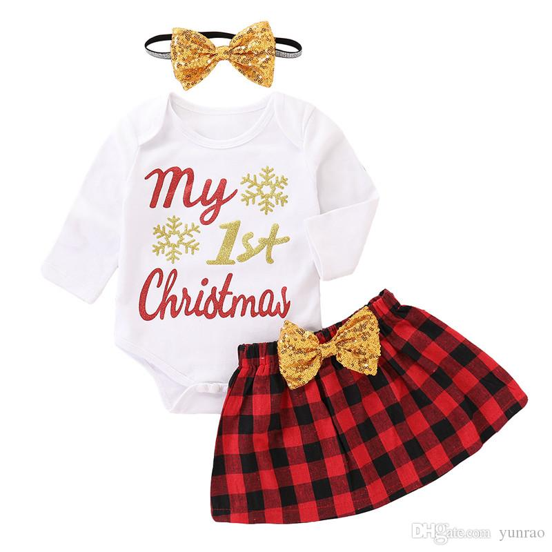 2017 Hot Infant Baby Boys Sets Red Plaid Long-sleeved Romper Jumpsuit Tops Quality Pants Outfits Toddlers Suits Clothes Set 0-24m Superior In