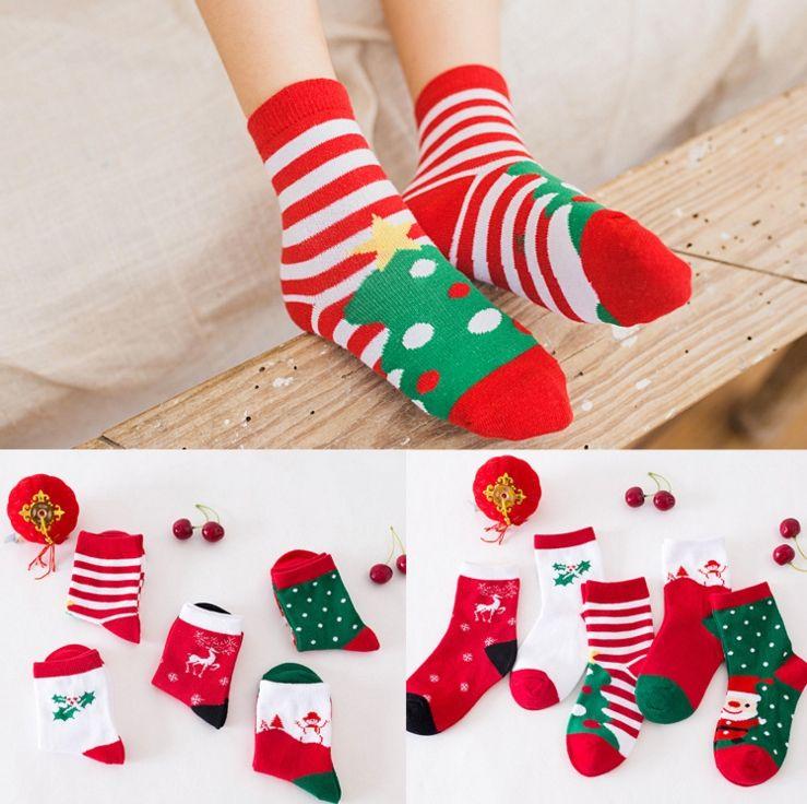 kids babys christmas socks girls boys xmas socks for 2 12t toddlers 100 cotton socks for babys colorful socks trainer socks from mamatoy 086 dhgatecom