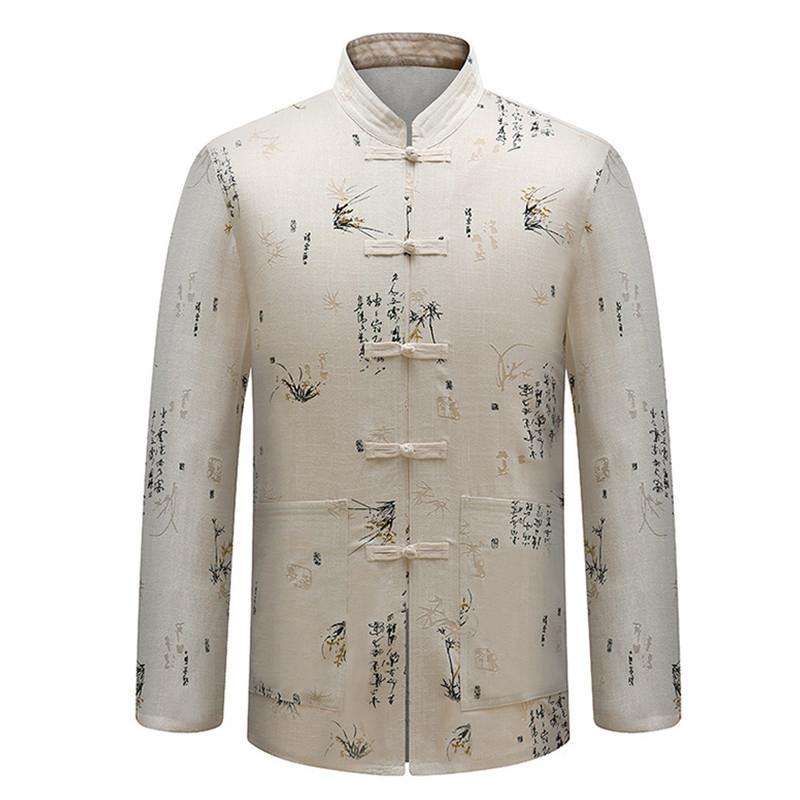 529ab9f83a Camicia a maniche lunghe da uomo in cotone tradizionale, abito da uomo,  completo di mutande in cotone