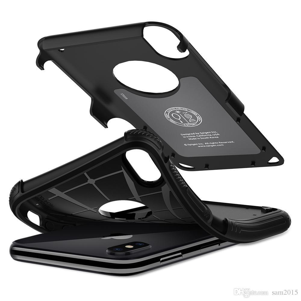 SGP Spigen Hybrid Armor Layer Difícil Caja Destacada Protector a prueba de golpes para iPhone12 Mini 11 Pro Max X 7/8/6 PLUS S20 Note20