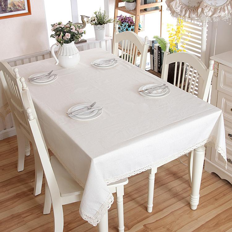 DHgate.com & HELLOYOUNG White Decorative Table Cloth Cotton Linen Lace Tablecloth Dining Table Cover For Kitchen Home Decor U1132